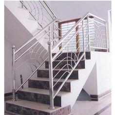 Steel Railings Steel Stairs Design, Staircase Railing Design, Interior Stair Railing, Modern Stair Railing, Steel Gate Design, Door Gate Design, Modern Stairs, Balcony Grill Design, Balcony Railing Design