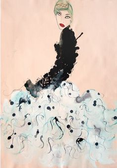 I just adore her fashion illustrations! - Tanya Ling
