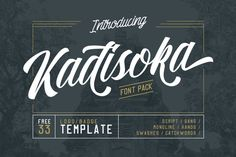 Buy Kadisoka Font Pack by letterhend on GraphicRiver. Introducing my first debut : Kadisoka font pack! The reason why I called this product with font pack is because it co. Calligraphy Fonts, Script Fonts, All Fonts, Caligraphy, Handwritten Fonts, Modern Calligraphy, Business Brochure, Business Card Logo, Business Flyer