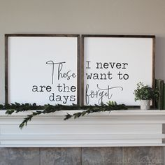 home decor signs These Are The Days (Set of Hand Painted Wooden Signs Home Decor Signs, Diy Signs, Diy Home Decor, Decor Crafts, Diy Crafts, Quote Crafts, Wood Crafts, Wall Signs, Farmhouse Side Table