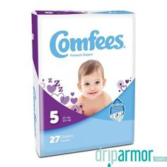 New In Package-Lot Of 4 Comfees Premium Diapers-Size 7 20 diapers per package