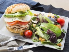 MOZZARELLA SANDWICH ~ California Chicken & Smoked Mozzarella Sandwich ...