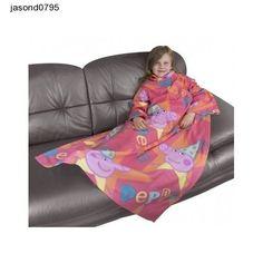 Peppa Pig Blanket Jumper Coat  Sleep Funfair Sleeved Fleece Snuggly 90 x 120cm