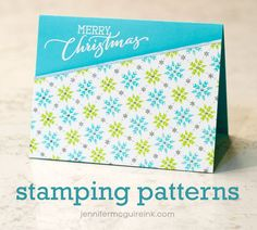 Stamping Patterns Video by Jennifer McGuire Ink