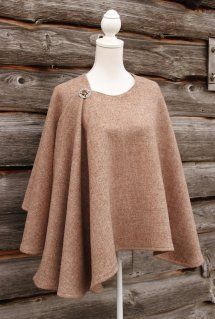 A gorgeous traditional style tweed wrap, stylish and warm, wear over a shirt or on the extra cold days over a jacket. Sewing Clothes, Diy Clothes, Cape Designs, Cape Dress, Harris Tweed, Sewing Techniques, Clothing Patterns, Coats For Women, Autumn Winter Fashion