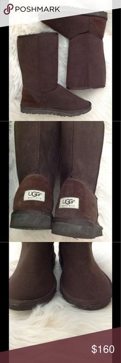NWOT 💕Size W8 Classic Chocolate Tall UGG💕Brown Perfect and ready to ship! Any questions let me know!  Only trades considered are for Lululemon or North Face. ( over stocked with everything else :(   Keep those toes warm! Always save when you bundle!!! UGG Shoes Winter & Rain Boots