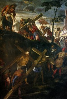 https://flic.kr/p/D5xhuV   The Ascent to Calvary   1566-1567. Oil on canvas. 515 x 390 cm. Scuola Grande di San Rocco, Venice.