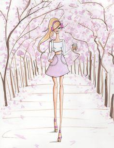 """Cherry Blossom Girl"" Art Print by Josefina Fernandez Illustrations | Society6"