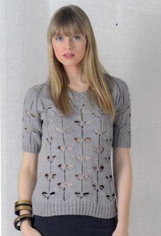 Modèle tricot n°17 du catalogue 107 : Femmes, Spécial expertes, Printemps/été 2014. Fil PHIL COTON 3