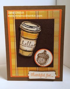 Mrs. Lincoln's Inkin: Fall Perfect Blend using Stampin' Up! products!! Please visit my website at http://www.mrslincolnsinkin.com/2013/10/fall-perfect-blend.html for a complete supply list of all SU! products used for today's project.  Happy Inkin'!!