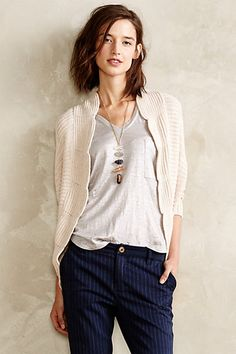 Scalloped Cocoon Cardigan #anthropologie