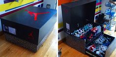 jordan shoe box storage | Air Jordan Storage Box - Wooden Wonder | Nikeblog.com