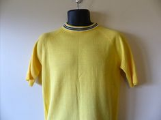 Vintage 60s knit sweater 1960s mens pullover by WingManVintage