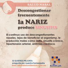 """No abuses de los productos que descongestionan tu nariz ni los químicos ni los que son """"agua de mar"""""""