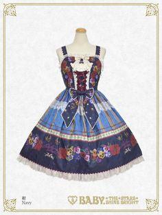 Polonaise Brillante ~Ideas of Maiden~ Corset JSK by Baby, the Stars Shine Bright Lolita Fashion, Grosgrain, Corset, Bright, Summer Dresses, Stars, Baby, Clothes, Ideas