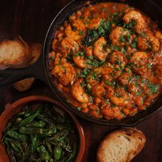 Garlicky Shrimp & White Beans | scarpetta dolcetto