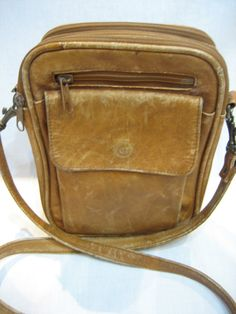 Vintage Genuine Leather Cross Body Messenger Made in by CLASSYBAG