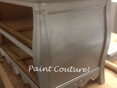 Painted with Silver Star and glazed with Zinc by The Couture Collection! Furniture Fix, Refurbished Furniture, Furniture Projects, Furniture Makeover, Home Projects, Painted Furniture, Furniture Refinishing, Paint Stain, Paint Finishes