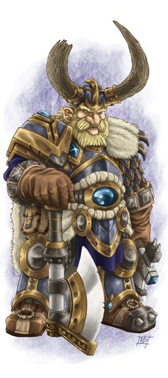 DS: Dwarf Male colored by ~willowWISP on deviantART