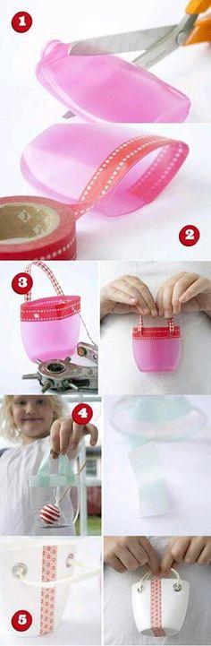 Shampoo bottle little basket