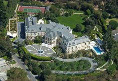 Arron Spelling Mansion, in 2011 23 year old Billionaire Heiress Petra Ecclestone, bought the home for $85 million from Candy Spelling, widow of producer Aaron Spelling. Petra is the well housed daughter of Formula 1 Billionaire Bernie Ecclestone by Tom Allmon