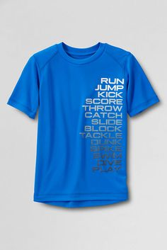 Boys' Short Sleeve Active Graphic T-shirt from Lands' End