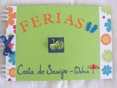 ÁLBUM VENDIDO! PODE SER ENCOMENDADO A SEU GOSTO!!  ÁLBUM composto por capa e contra-capa duras, forradas com papel na cor verde maçã e detalhes em floral.  Personalização e decoração com o tema férias - viagem.  Folhas internas: Papel color plus.  Encadernação: Wire-o.  Quantidade de folhas: 15 folhas (30 páginas)  Capacidade de fotos: 04 fotos 10 x 15 ou 01 fotos 13 x 18 ou 01 fotos 15 x 21 ou 01 foto 20x25 Ou 1 foto 20x30 por página;  Opções internas: 15 folhas (30 páginas); 20 folhas (40…