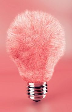 Pink and furry light bulb #pink #fur - Carefully selected by GORGONIA www.gorgonia.it