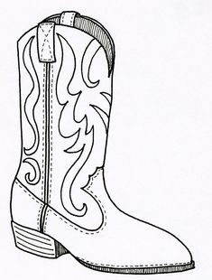 the embroidered cowgirl boots and booties adult coloring book