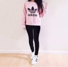 shirt pink adidas sweater addias sweater cute outfit tumblr outfit shoes adidas sweater hoodie pink sweater