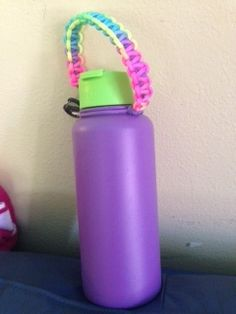 Greatest Hydro Flask and beautiful rainbow para-cord handle ever! Thank you Misty and Koa!  #hydroflask #koakords #lovemyfriends