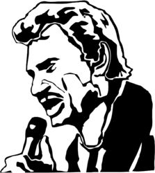 Stickers JOHNNY HALLYDAY - Musique/chanteurs, groupes etc... - Destock-Stickers Johnny Halliday, Tods Bag, Star Silhouette, Scroll Saw Patterns, Kirigami, Pop Art, Sculptures, Painting, Stencil