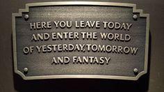 Disneyland entranceway plaque by QuestDesignCanada on Etsy