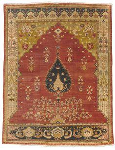 Persian Ziegler Mahal meditation carpet, late 19th century