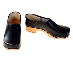 sabots...Closed Clog black / bright sole by berlin27clogs on Etsy, $56.00