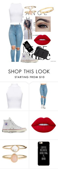 """""""Untitled #10"""" by daisyloo1997 ❤ liked on Polyvore featuring WearAll, Converse, Lime Crime, Accessorize and Yves Saint Laurent"""