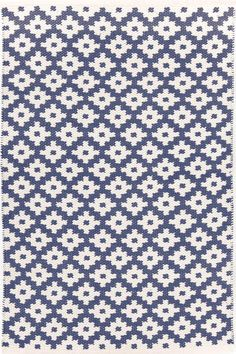 #DashAndAlbert Samode Denim/Ivory Indoor/Outdoor #Rug. Give your favorite space a dash of global glam with our all-new indoor/outdoor area rugs in a graphic pattern inspired by the Samode Palace in India.