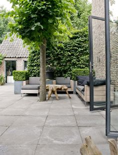 Outdoor Room | Grey & natural tones | furniture & hardscape