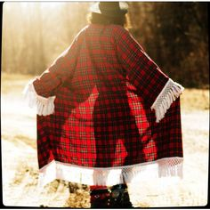 Boho Festival Grunge Red Plaid Flannel Long Cotton Fringe Maxi Duster... ($95) ❤ liked on Polyvore featuring intimates, robes, grey, outerwear, women's clothing, red robe, cotton robe, fringe kimono, dressing gown and cotton bath robe