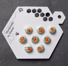 Fabric Covered Buttons  8 x 12mm buttons by HandmadeByElaine33