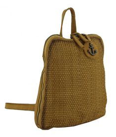 Soft Weaving 2 Mustard Deborah Harbour2nd Backpack gelb Laptop Rucksack, Mustard, Weaving, Backpacks, Red Leather, Leather Cord, Get Tan, Backpack, Mustard Plant
