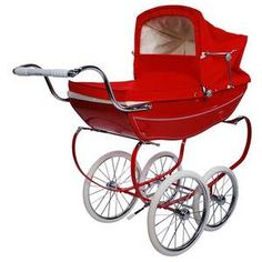 Poppy red Silver cross pram Thinking I could take my dog for a ride in style!