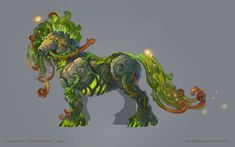 """I like the """"mossy""""/""""viney"""" look to him. I don't want my character covered in foliage, but it would be nice to give the impression that they are a part of her... not just a tree randomly placed on her back."""
