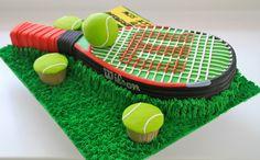 torten-maenner-tennis-sport-thema-schlaeger-tennisball