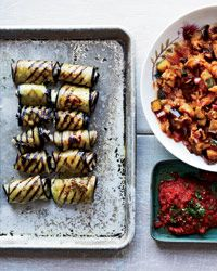 Eggplant Involtini with Grilled Ratatouille: Faux cheeses made with nuts are key to vegan cooking. To stuff these involtini, chef Sean Baker of Gather in Berkeley re-creates the flavor of ricotta by combining pureed raw cashews with nutritional yeast, which has a very savory, almost cheese-like flavor and is available at well-stocked specialty and natural food stores.