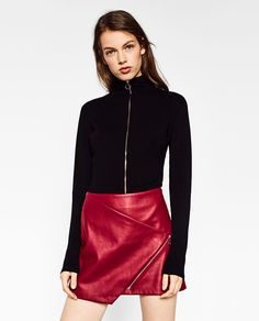Image 4 of CROSSOVER SKIRT WITH ZIP from Zara