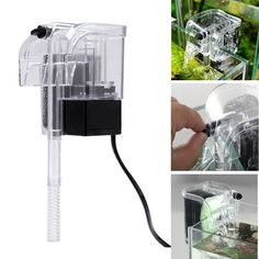 3W Hanging External Aquarium Filter Water Oxygen Circulation Pump 3 In 1 Aquarium Waterfall Filter Pump For Fish Turtle Tank #AquariumPumpsFilters