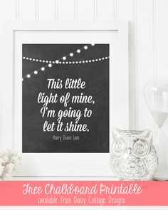 This Little Light of Mine Printable | www.daisycottagedesigns.net