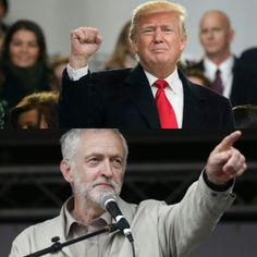 I've got your front... And I've got your back.  Jeremy Corbyn and Trump