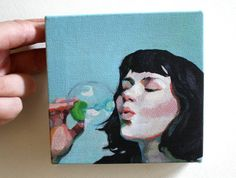 Jenny / Tiny canvas print by tushtush on Etsy, $20.00